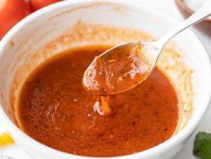 Tomaten basilicum vinaigrette